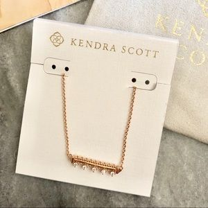 Kendra Scott Anissa Bar Necklace in Rose Gold